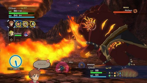 Fiery combat against one of the demo's largest boss encounters.
