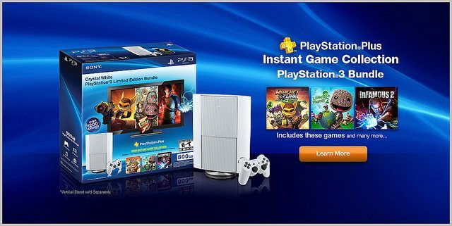 White PS3 Instant Games Collection Bundle Featured Image