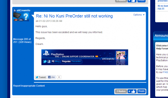 Ni No Kuni not on PlayStation Store