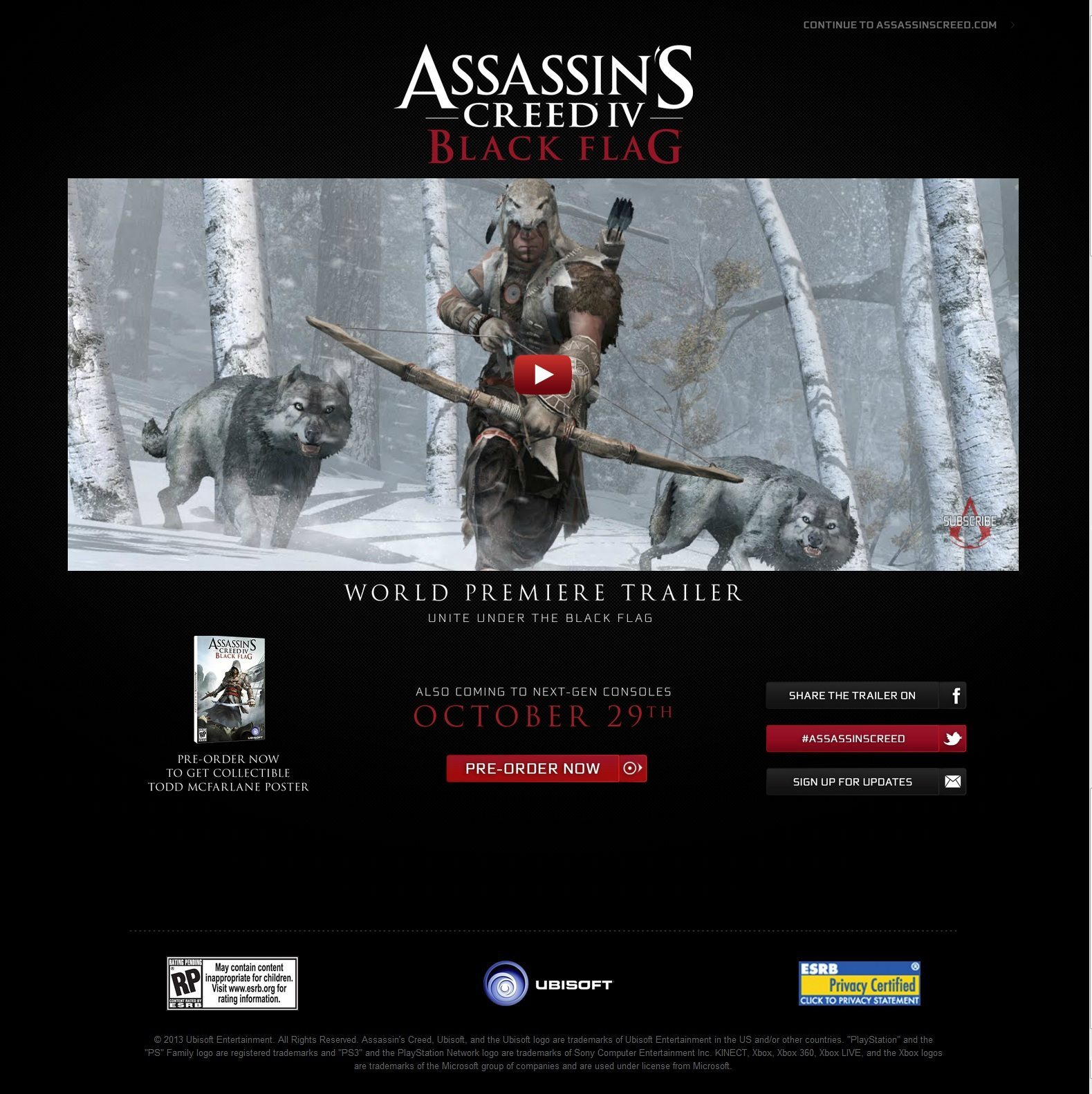 Assassin's Creed IV: Black Flag Release Date Leaked
