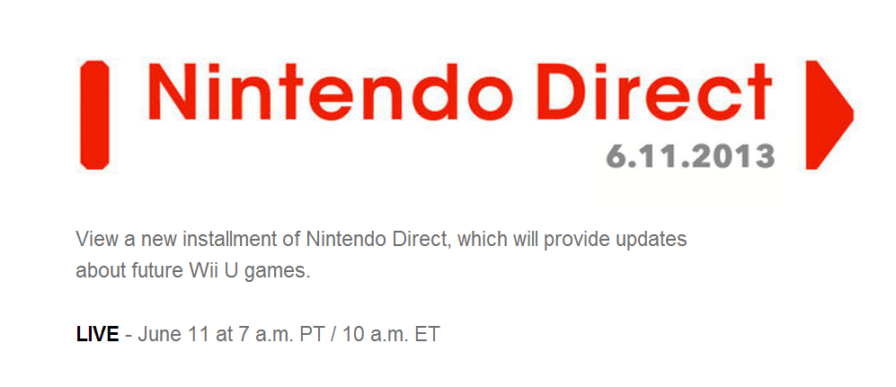 Nintendo Direct - June 11th