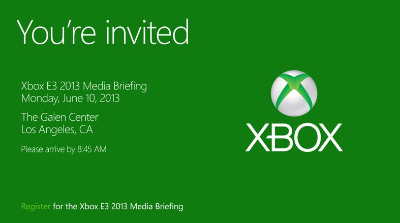 Microsoft E3 2013 Conferene Invite