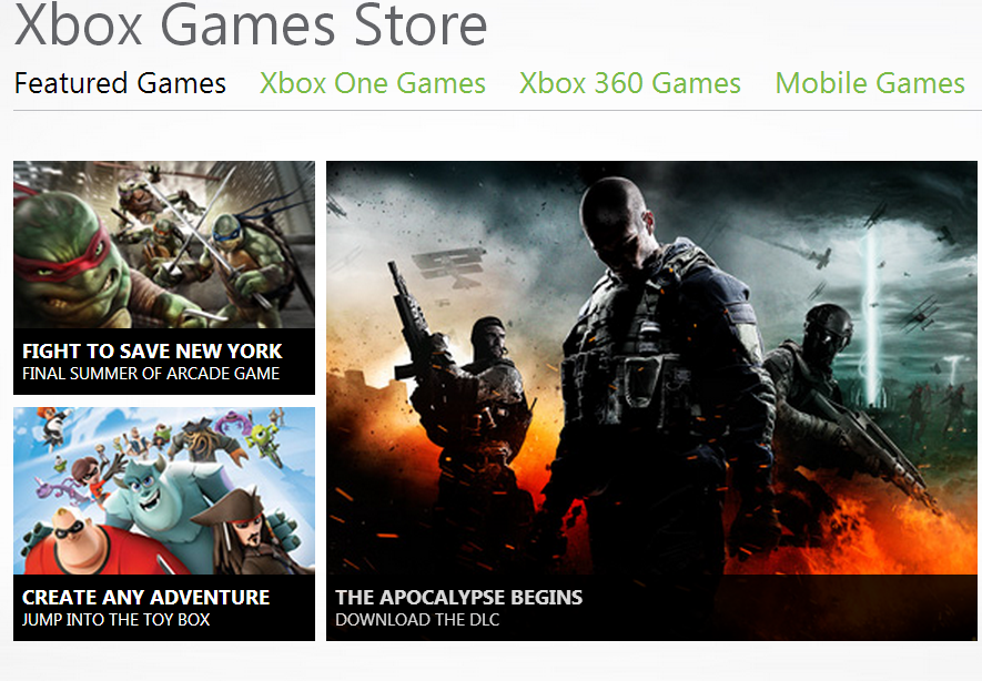 Xbox Games Store