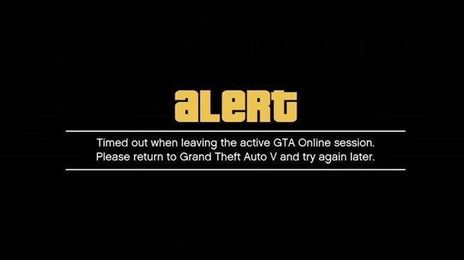 GTA Online Error - Bagogames.com