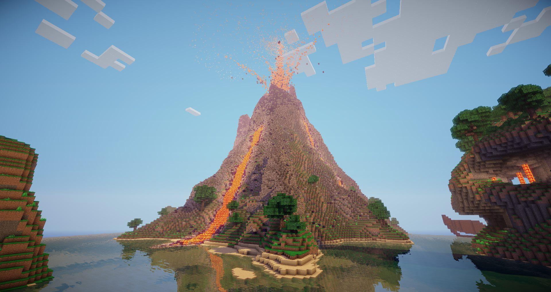 Minecraft Volcano
