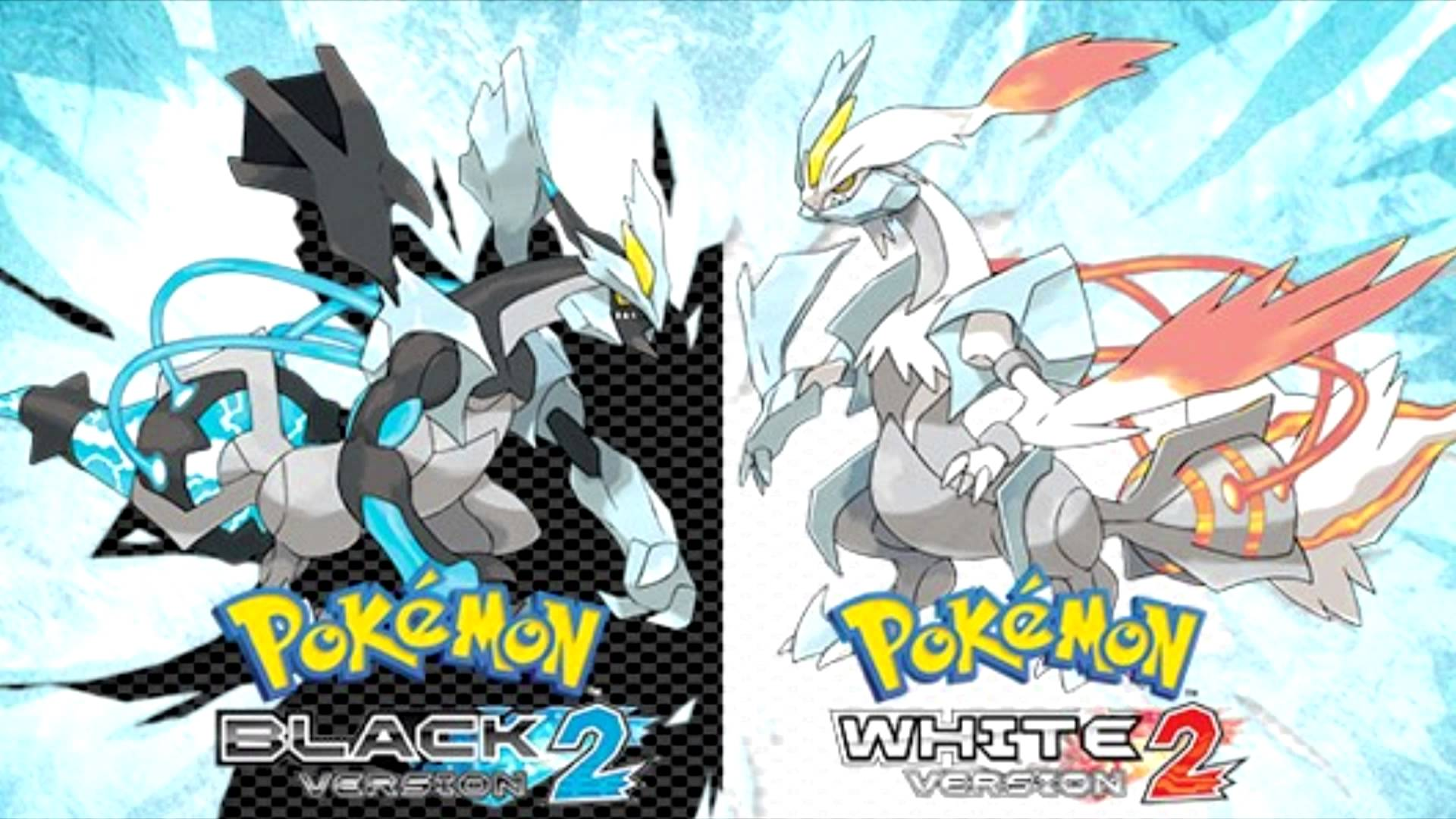 Black Kyurem and White Kyurem from Pokémon Black 2 and White 2