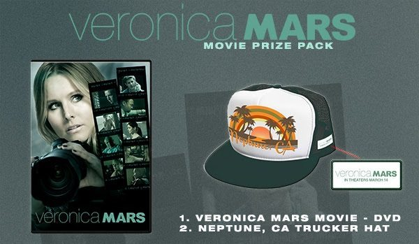 Enter for a chance to win the Veronica mars movie prize pack