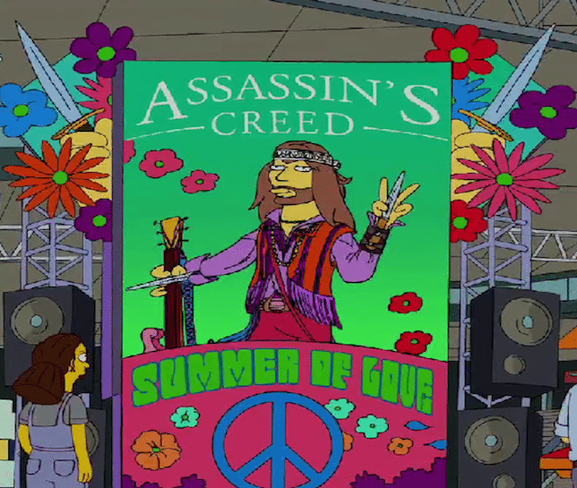 Simpsons Assassins Creed Summer of Love Bago Games