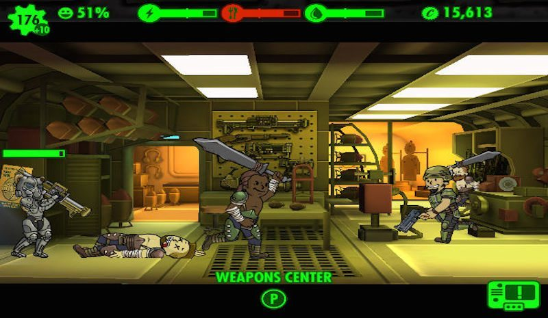 Fallout Shelter i0S Weapons BagoGames