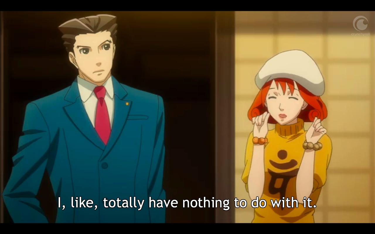 Ace Attorney Anime / Crunchyroll
