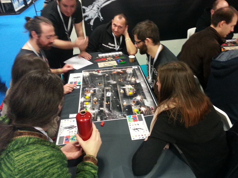 Facebook post by Monolith for Batman: The Board Game. Showing gameplay